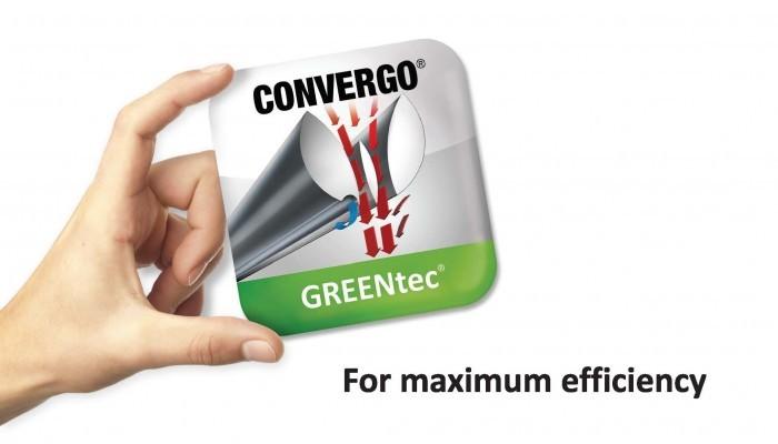 Ilmaverhon Convergo Greentec painesuihkupuhallusmenetelmällä saadaan maksimaalinen tehokkuus