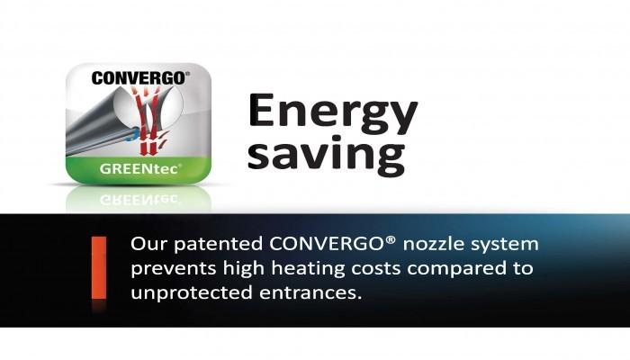 Ilmaverhon Convergo Greentec painesuihkupuhallusmenetelmällä säästetään lämmityskustannuksissa
