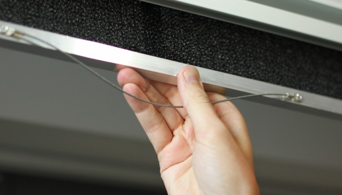 Ilmaverhon alumiinirunkoisia suodatinkasetteja on helppo käsitellä