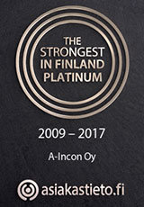 A-Incon Oy The Strongest in Finland Platinum 2009 - 2017