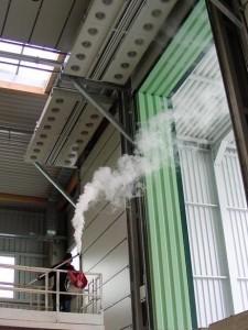 Ilmaverhot teollisuuteen savutesti