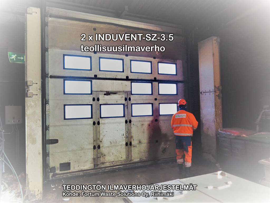 2 x INDUVENT-SZ-3.5 teollisuusilmaverho