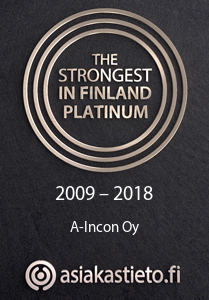 A-Incon Oy The Strongest in Finland Platinum 2009 - 2018