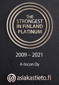 A-Incon Oy The Strongest in Finland Platinum 2009 - 2021